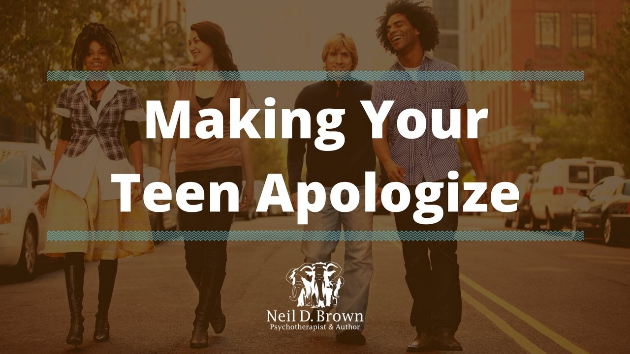 Does Making Your Teenager Apologize Do Any Good?
