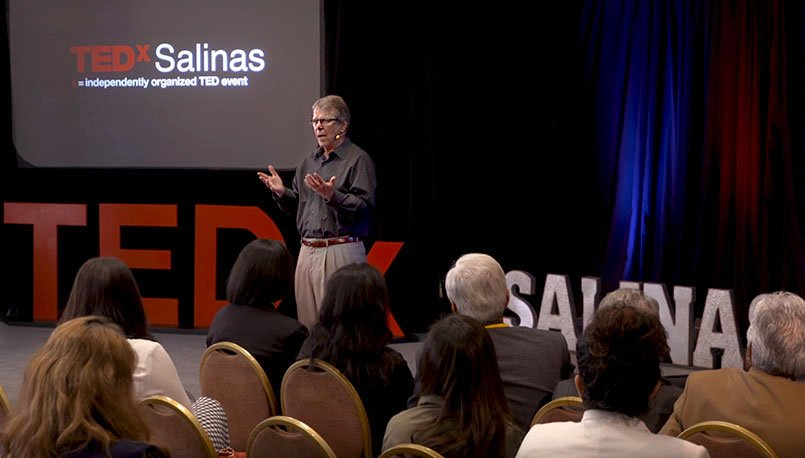 Neil D. Brown speaking at TED Talks in Salinas, California